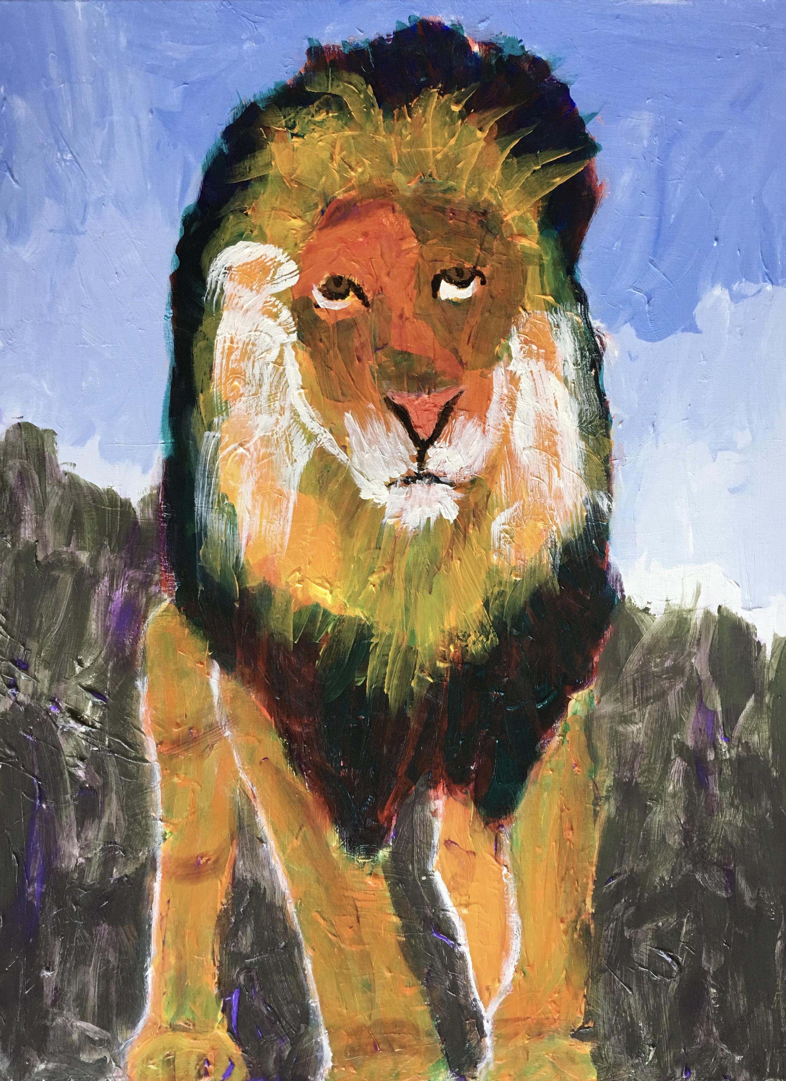 Big Lion King - - Original for Sale - Prints Available