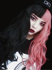 pink black rainbow wavy