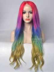 rainbow mermaid colorful lace front