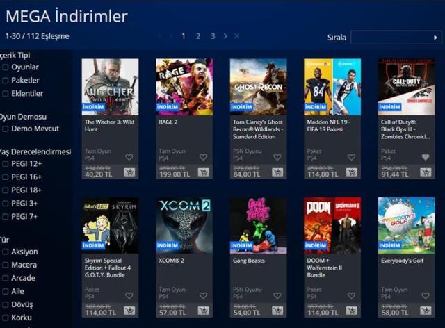 PlayStation Store'da 'MEGA İndirimler' dönemi başladı