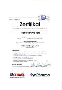 VHO-Osthold-Methode Zertifikat