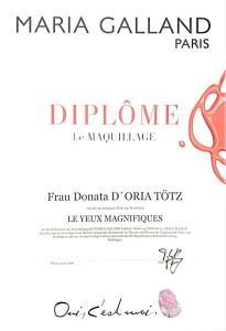 LE Yeux Magnifiques Diplom