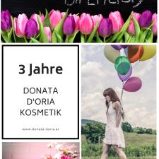 3 Jahre Donata D'Oria Kosmetik