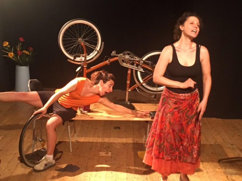 E io pedalo, prove al Teatro del Lampadiere, Bologna 2016