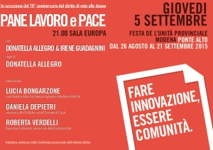 invito 5 settembre Modena