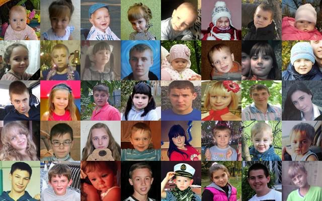 Enfants victimes de l'armée ukrainienne dans le Donbass