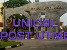 UNICAL POST UTME