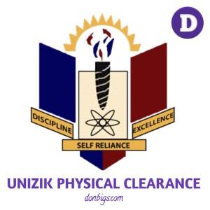 Unizik physical clearance
