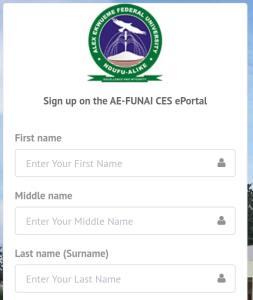 Funai Pre Degree Admission Form 1