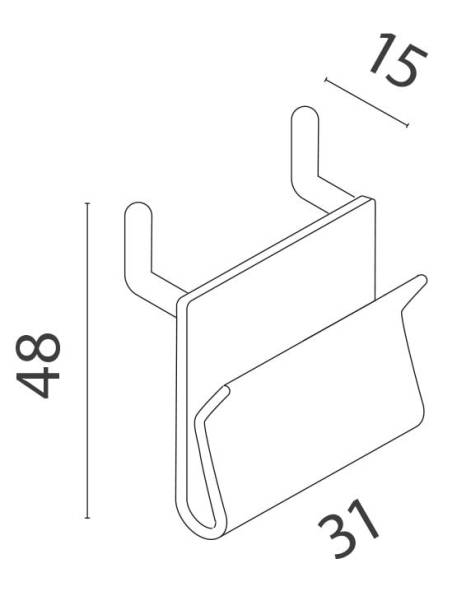 Gancho Simple Plástico medidas