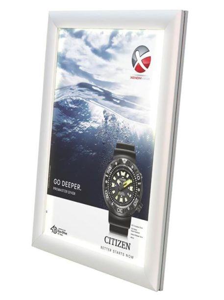 Marco Aluminio LED para publicidad modelo Artega