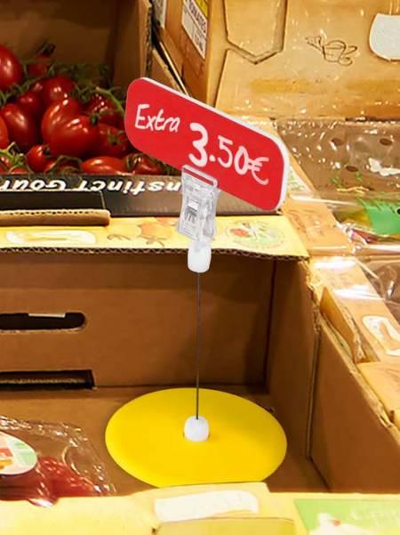 Pinza con peana amarilla (25 unidades)