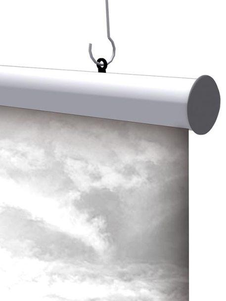 Porta Carteles modelo AluGrip ejemplo