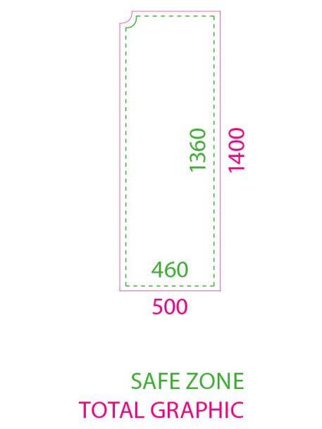 Banderola interior modelo Squared medidas impresión