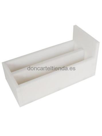 Cuchillero Polietileno Sobremesa Doble Blanco