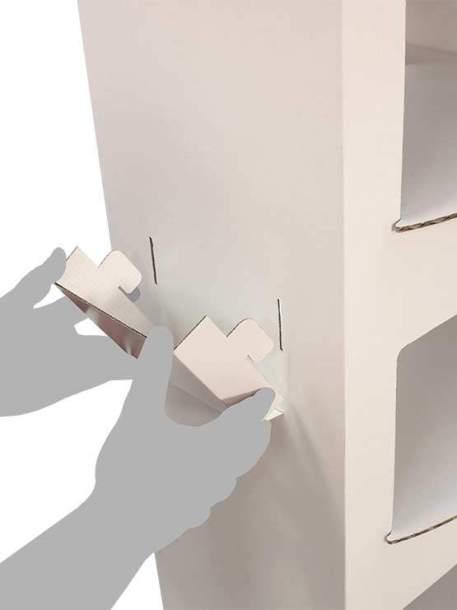 Mostrador de cartón montaje 5