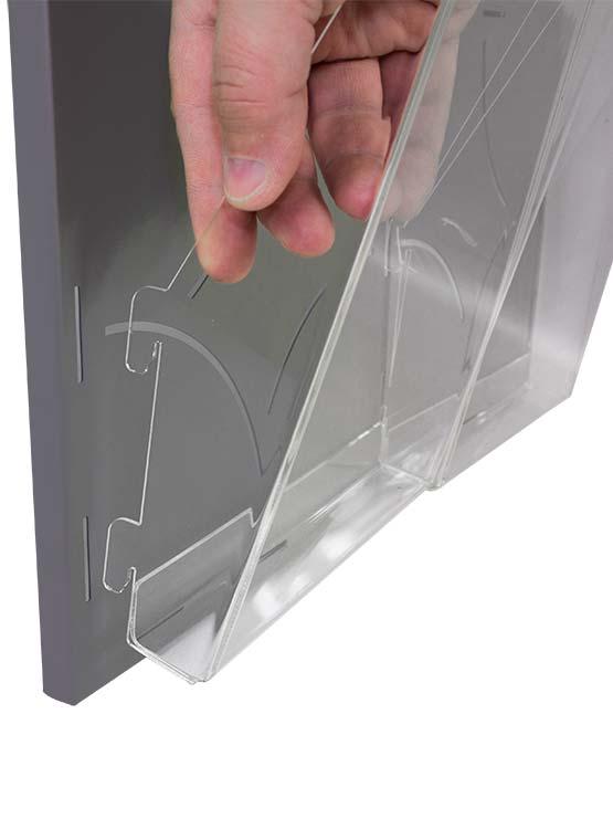 Porta folletos de pared detalle 1