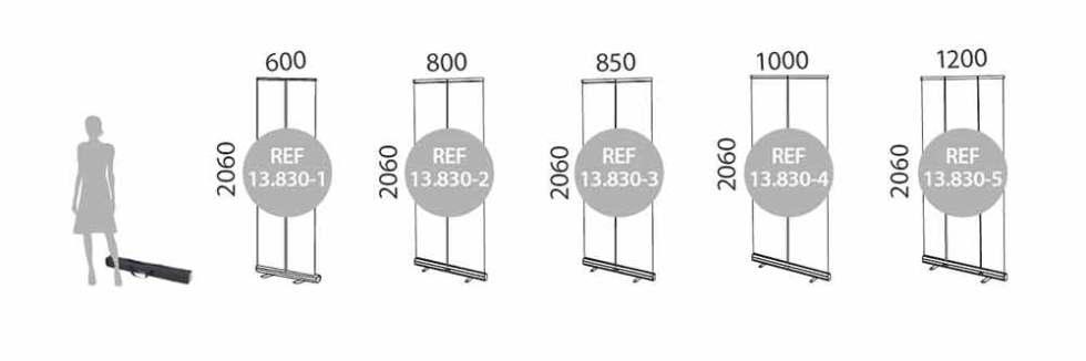 Roll Up Standard medidas