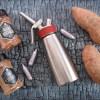 Süßkartoffel mit Frischkäse Espuma
