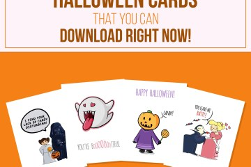 4 Printable Halloween Cards to Download Right Now!