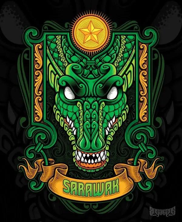 Buaya Sarawak by Agus Setyawan on Society6 - Don Corgi