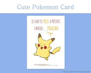 "Pokemon Printable Christmas Card, and 7 more on Etsy! by Don Corgi (""If I had to Pick a Present, I would... Pikachu!"")"