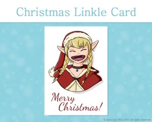 """Legend of Zelda Printable Christmas Card, and 7 more on Etsy! by Don Corgi (""""Merry Christmas!"""" from Linkle)"""