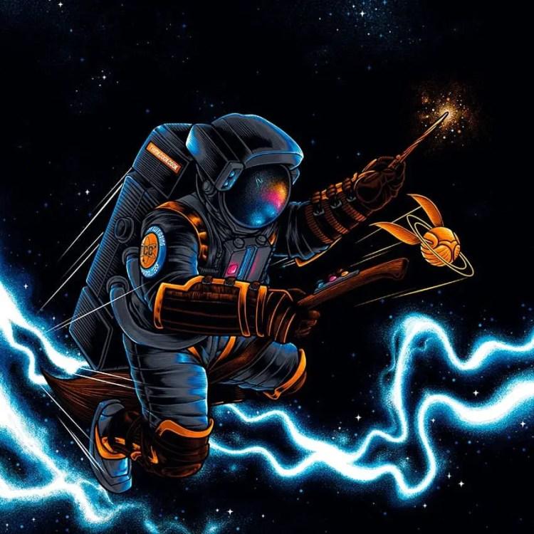 Expecto Astronum by Agus Setyawan on Society6 - Don Corgi