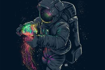 Jelly Space by Agus Setyawan on Society6 - Don Corgi