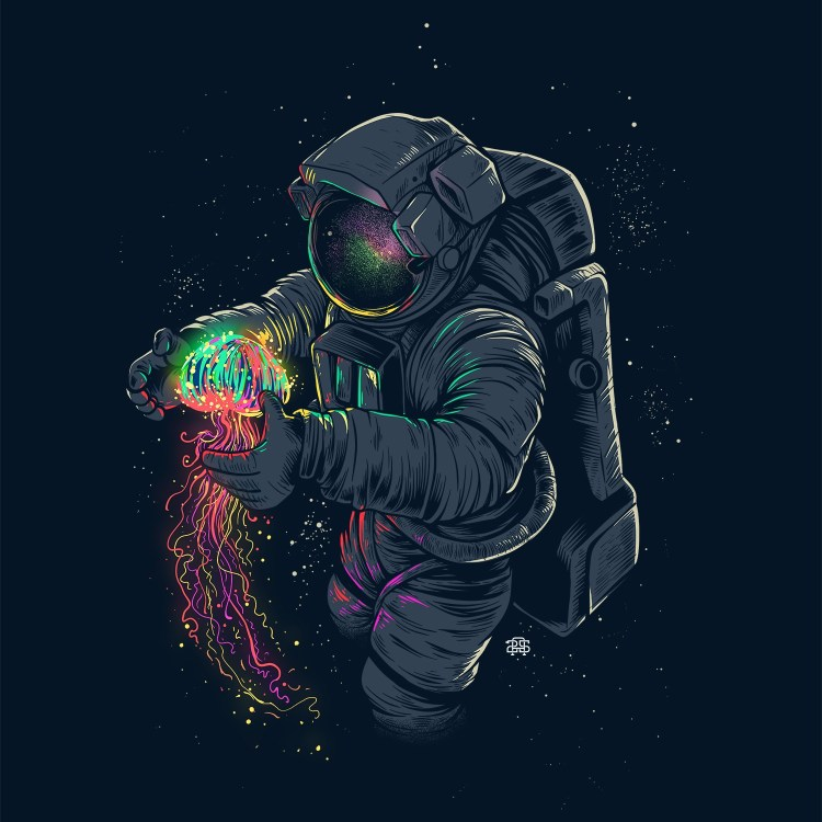 Jelly Space by Agus Setyawan on Society6 - Don Corgi