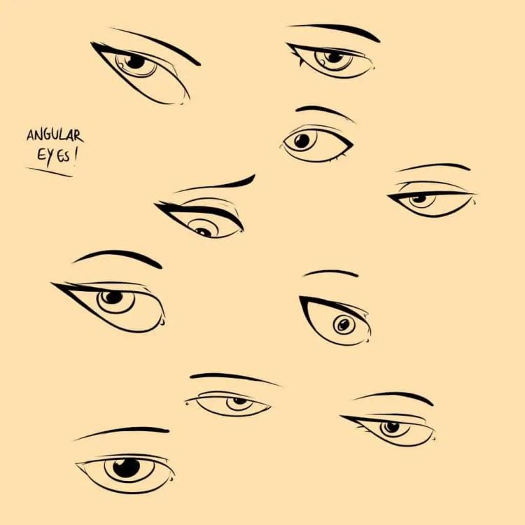 How to Draw Eyes - Drawing Angular Eyes by Don Corgi