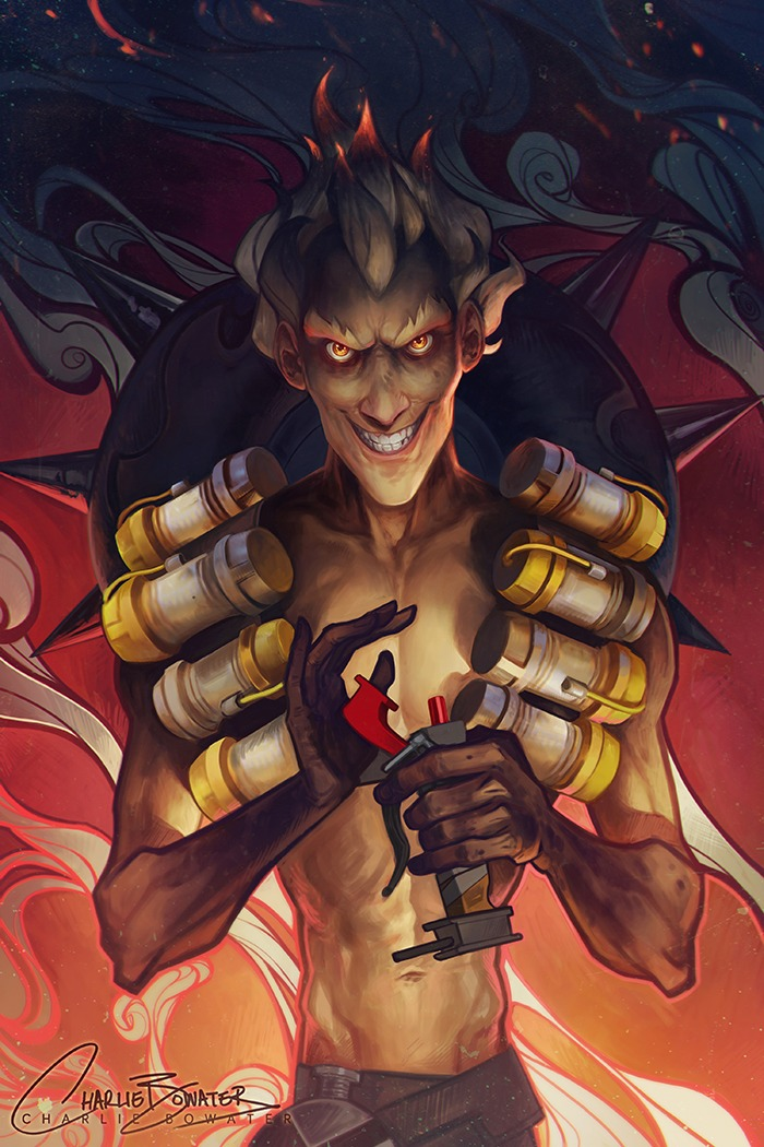 Junkrat by by Charlie Bowater on Deviantart, Inspirational Artist - Don Corgi