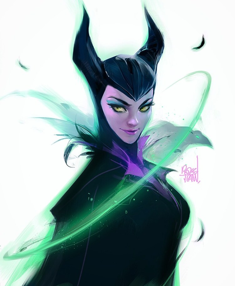 Maleficent Sketch by Ross Tran aka Ross Draws on Deviantart - Don Corgi Inspirational Tuesday