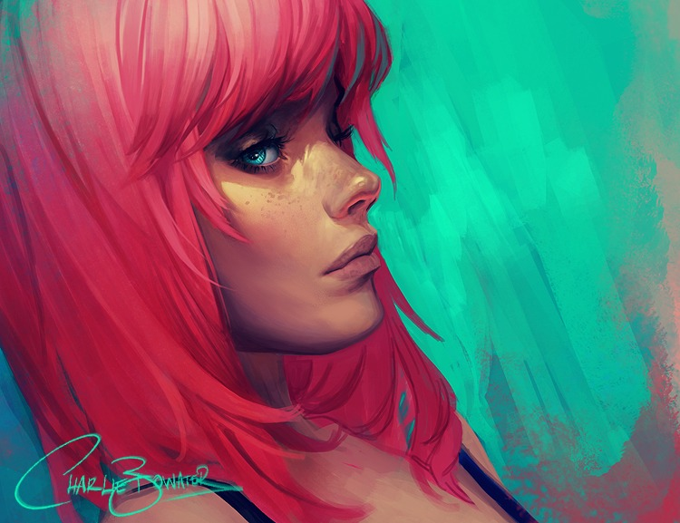 Neon by Charlie Bowater on Deviantart, Inspirational Artist - Don Corgi