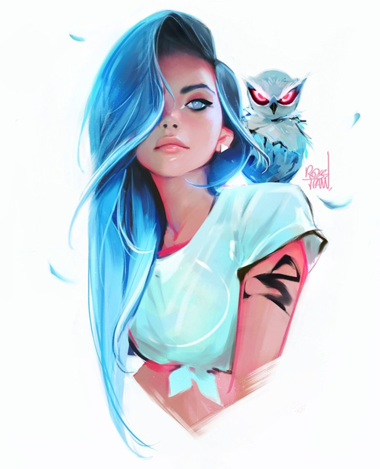 sapphire by Ross Tran aka Ross Draws on Deviantart - Don Corgi Inspirational Tuesday