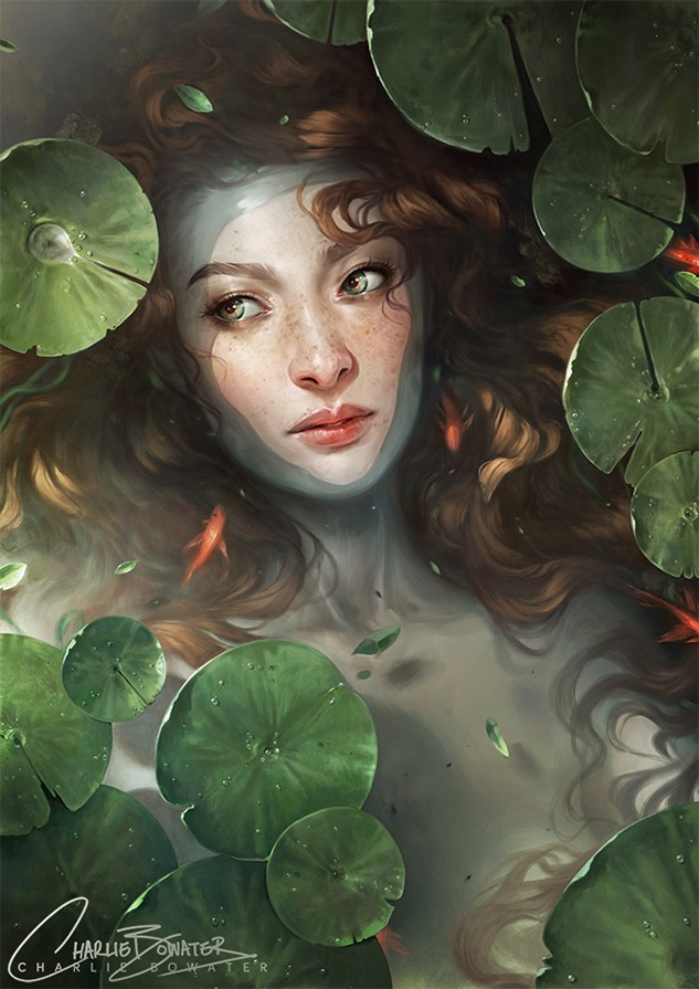 Shallows by Charlie Bowater on Deviantart, Inspirational Artist - Don Corgi
