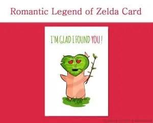 Printable Valentine Cards, Legend of Zelda I'm Glad I found you! - by Don Corgi on Etsy