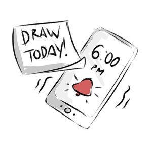 Stay on a Drawing Schedule to improve your ability to Draw
