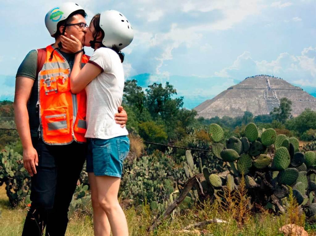 pedalea en bici por teotihuacan