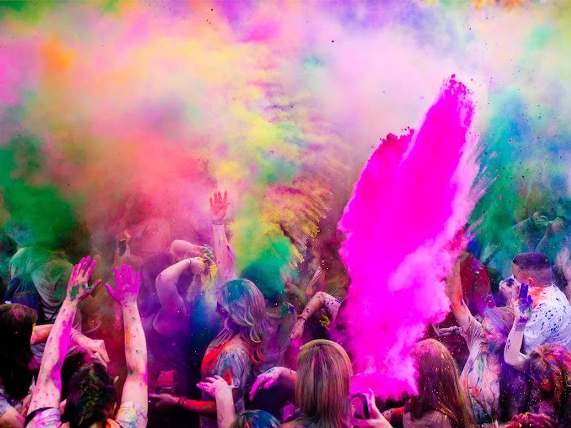 Color Fest en Teotihuacán