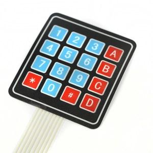 4 x 4 Matrix Array 16 Key Membrane Pulsante Keypad Tastiera per Arduino/AVR/PI?C