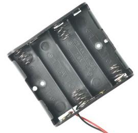 4 slot AA contenitore batterie