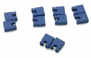 100 Pezzi Jumper cap, short cap, blue, 2.54mm
