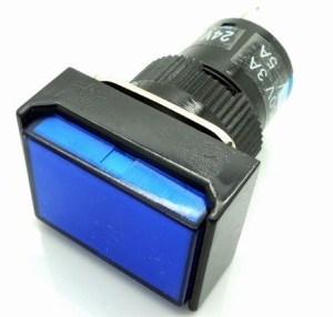 Blue Push bottone Pulsante LAS1 -AJ - 11 LA128 LA16 - J - 11d BLUE 24VOLT DC