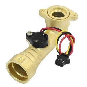 G1/2 DN15 Sensore Flusso d'acqua 5V-12V Ottone Flussometro Magnetico Effetto Hall