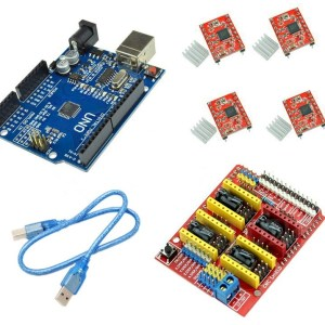 H039 CNC Shield V3 +4 Pezzi A4988 + UNO R3 & USB Cavo 3D printer