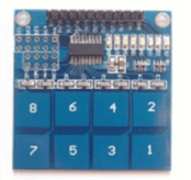TTP226 8-way touch Modulo Capacitivo touch Pulsante Digitale touch Sensore Modulo