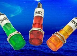 1 Pezzo Green Power piccolo lights / work lights XD10-3 DC12V DC24V AC220V 10mm