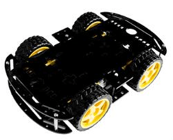 Black 4WD Dual Classis Robot Car