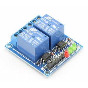 Modulo Relè 2 canali 5V High Level con LED per Arduino